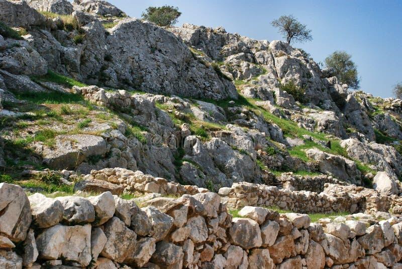 mycenae arkivbilder
