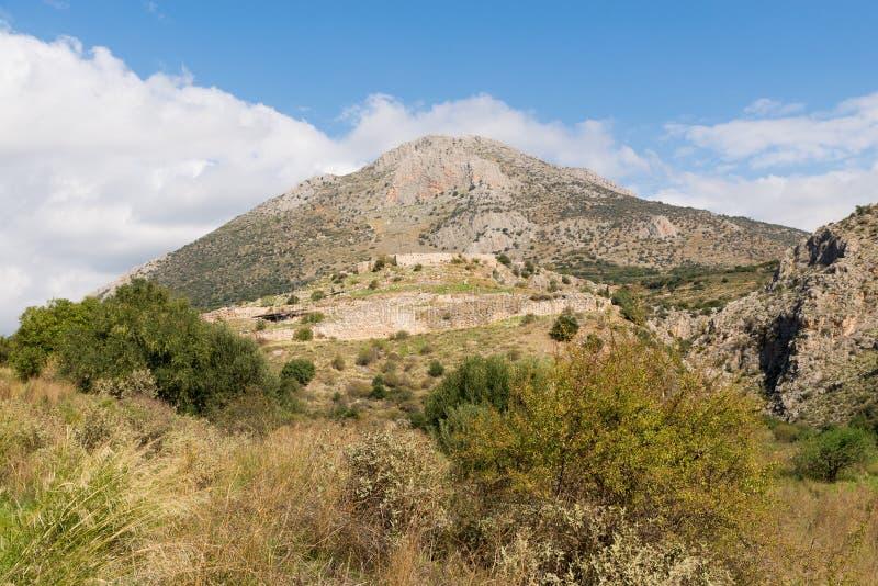 mycenae royalty-vrije stock afbeeldingen