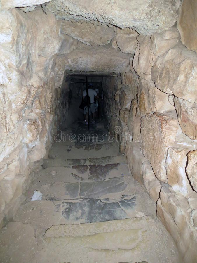 Mycenae, afdaling in de kerker royalty-vrije stock afbeeldingen
