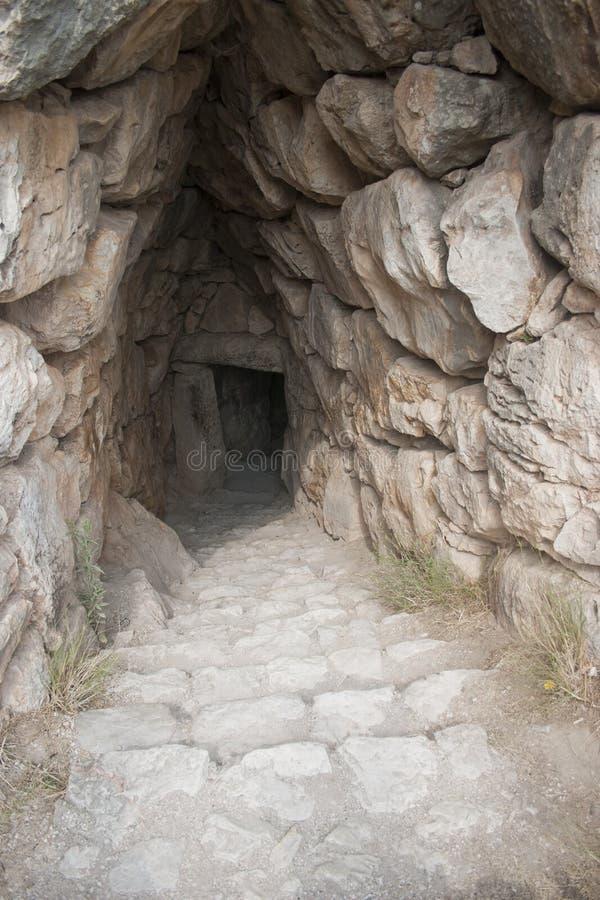 Mycenae ancient city stock photos