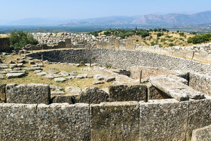 Mycenae Grekland royaltyfri bild