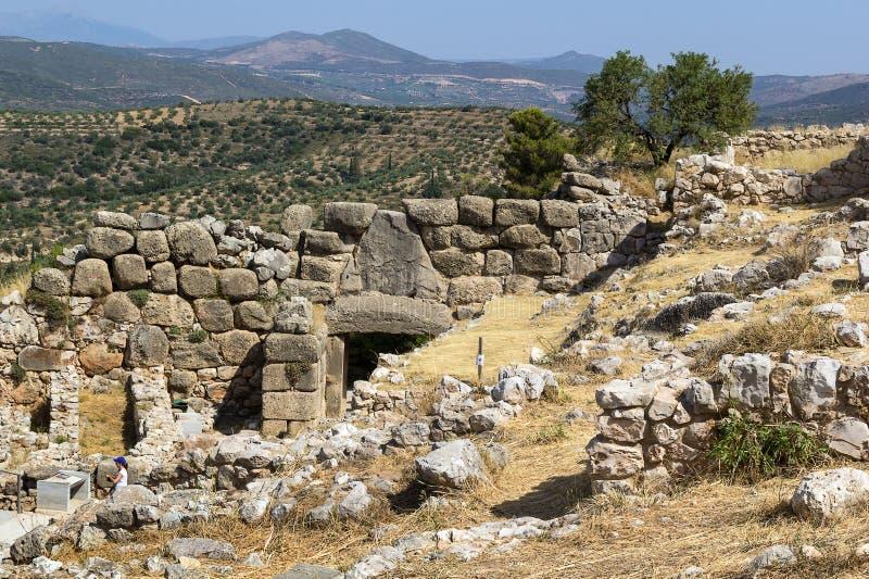Mycenae Grekland royaltyfria foton