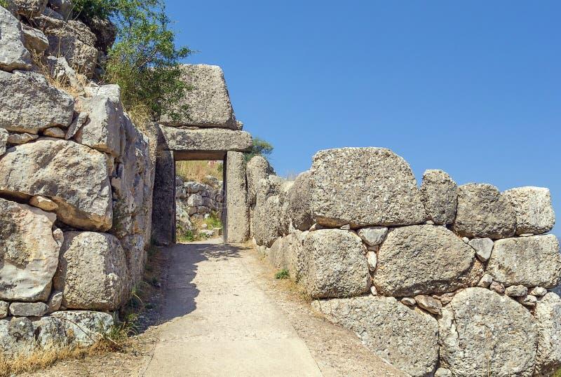 Mycenae Grekland arkivfoto
