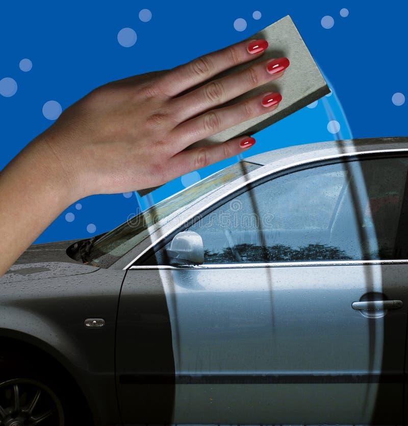 mycie samochodów royalty ilustracja