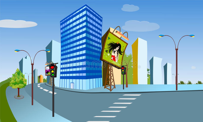 Mycity stock illustration