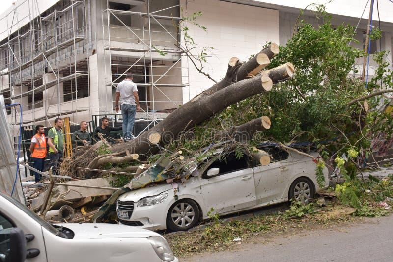 Mycket av katastrofen i Istanbul arkivbild