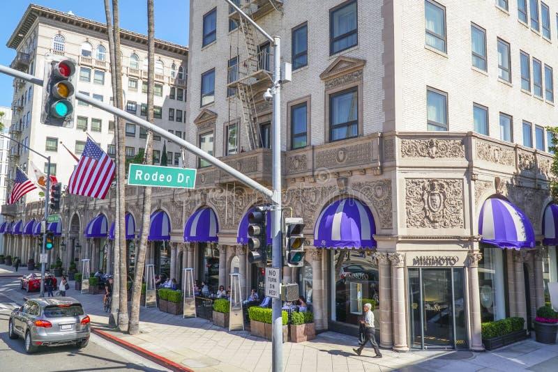 Mycket berömt och exklusivt hotell - Beverly Wilshire - LOS ANGELES - KALIFORNIEN - APRIL 20, 2017 arkivbild