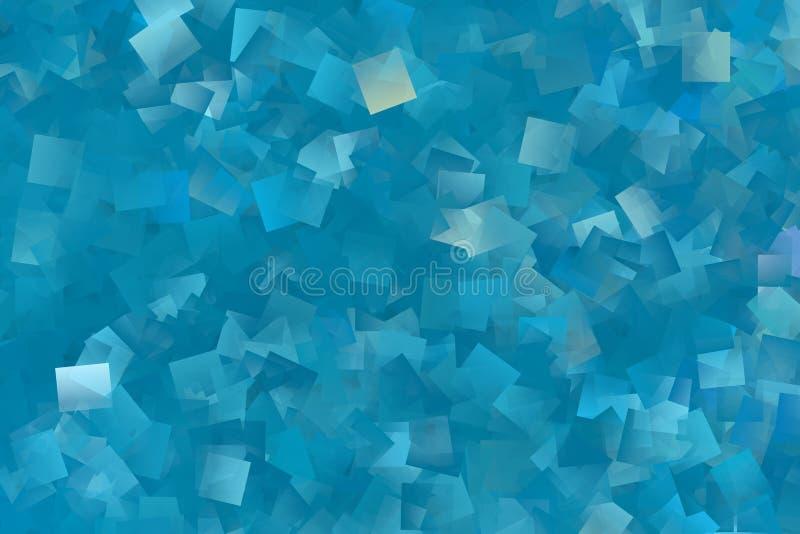 Mycket blåa rektanglar som en bakgrundsbild stock illustrationer