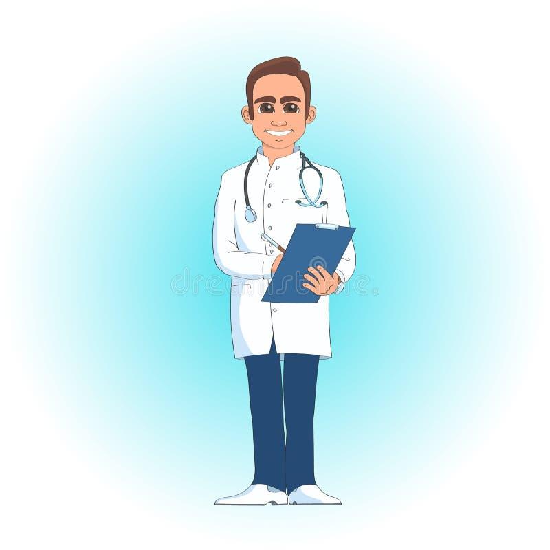 Mycket bra doktor en man vektor illustrationer