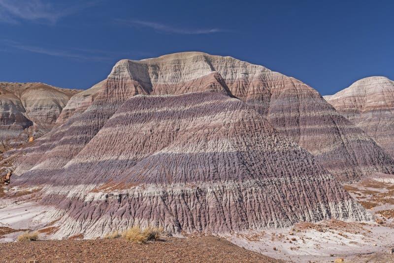 Mycket färgrika Buttes i öknen royaltyfri foto