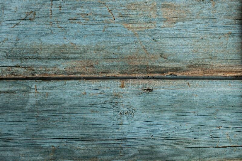 Mycket gammal blå wood plankabakgrund royaltyfri foto