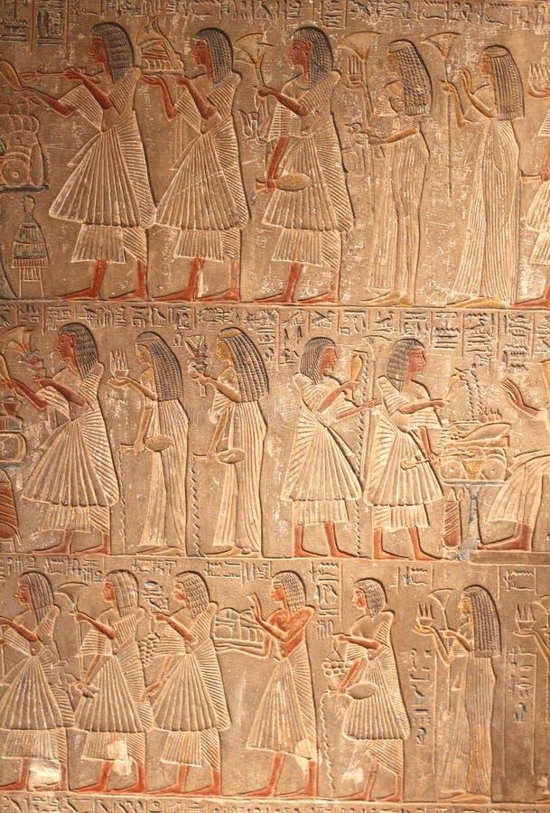 Mycket gammal hieroglyfisk konst arkivbild