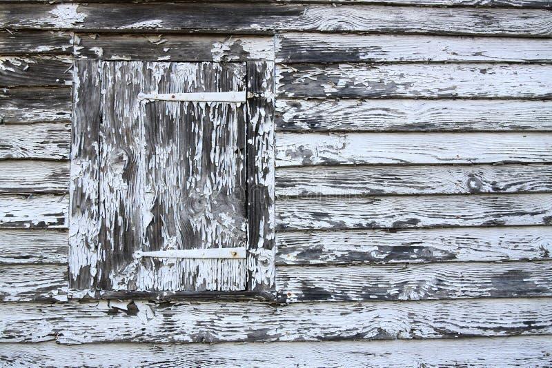 Mycket gammal slutare med skalning av whotemålarfärg arkivbilder