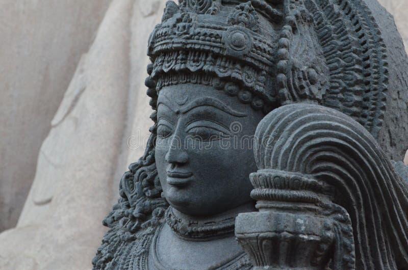 Mycket gammal staty av Yaksha fotografering för bildbyråer