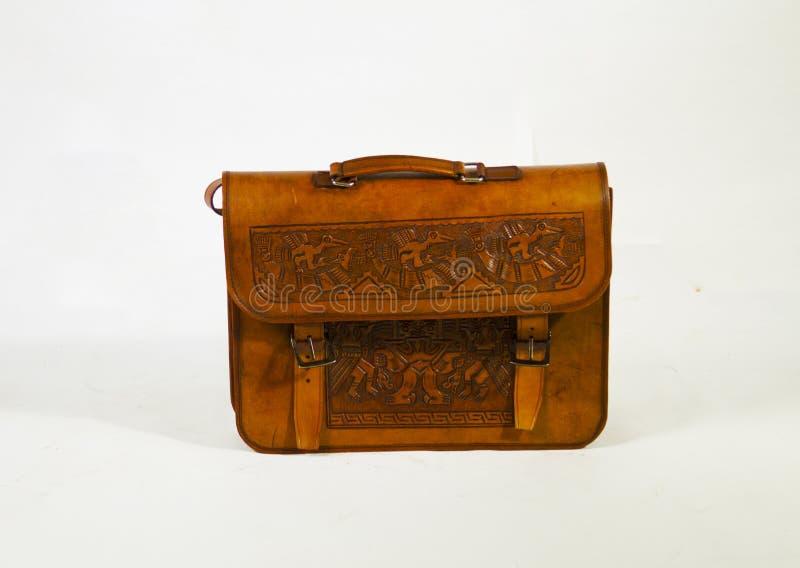Mycket härlig och trevlig handväska av läder för specialt ögonblick arkivbilder