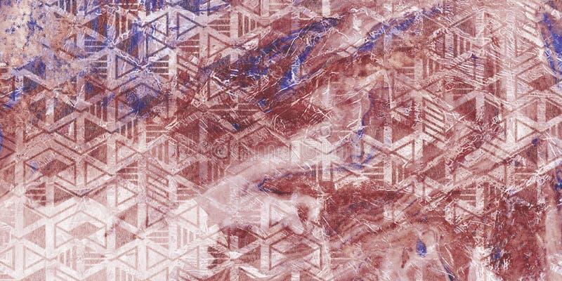 Mycket h?rliga lilor marmorerar modellen Tapet f?r abstrakt konst Konst och guld Ebru- turkiskt papper Naturlig lyx Gouachem fotografering för bildbyråer