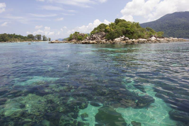 Mycket klart under havet royaltyfria foton