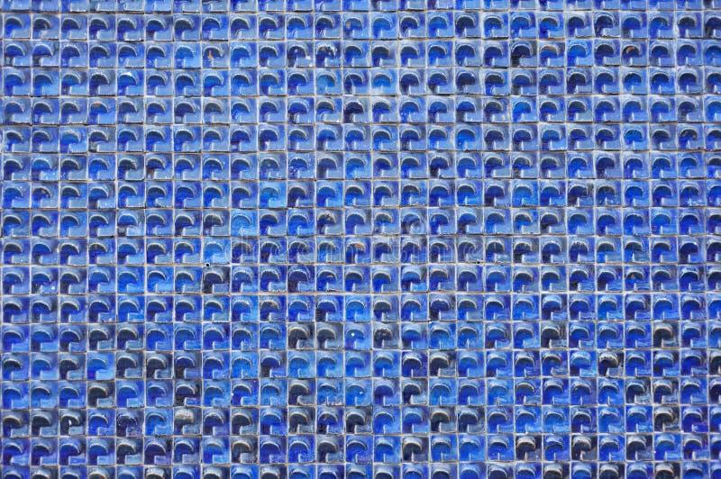 mycket lilla blåa tegelplattor royaltyfri bild