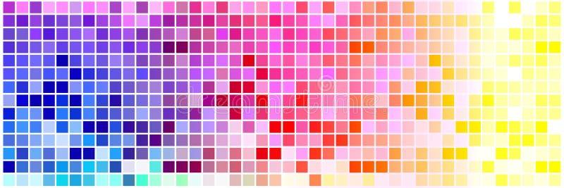 mycket lilla färgrika fyrkanter stock illustrationer