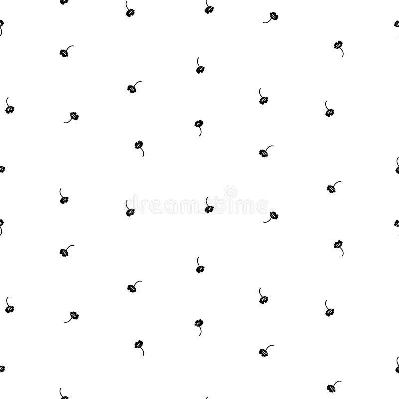 Mycket liten enkel blom- sömlös enkel vektormodell royaltyfri illustrationer