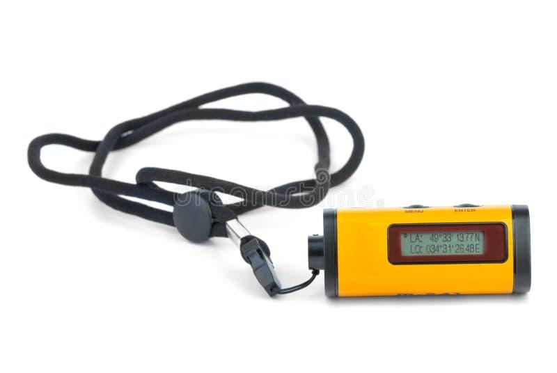 Mycket liten GPS-mottagare-logger apparat arkivfoton