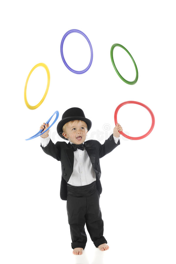 Mycket liten jonglör royaltyfria foton