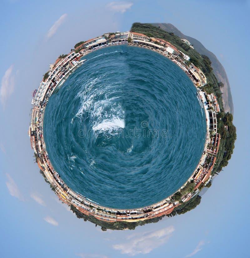 Mycket liten planet Grekland arkivfoto