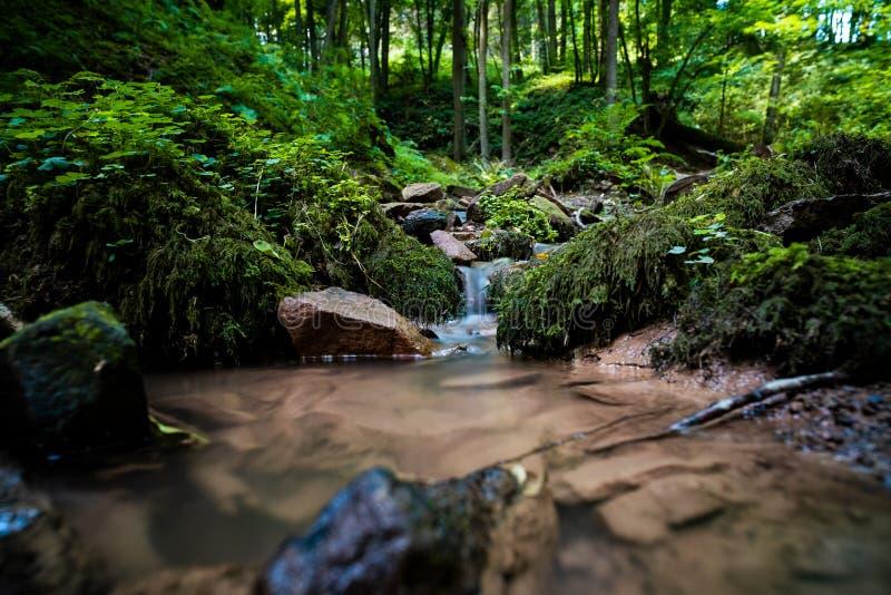 mycket liten vattenfall fotografering för bildbyråer
