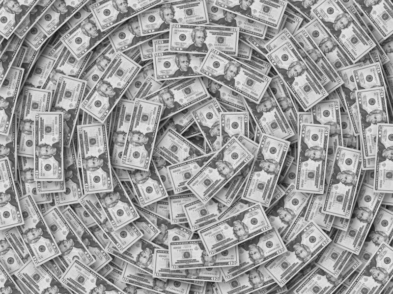 mycket pengar vektor illustrationer