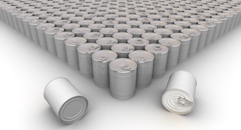 Mycket tenn- cans vektor illustrationer