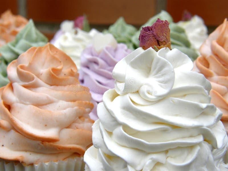 Mydlane babeczki wzrastali, pomarańcze, lavander i mennica, zdjęcia royalty free