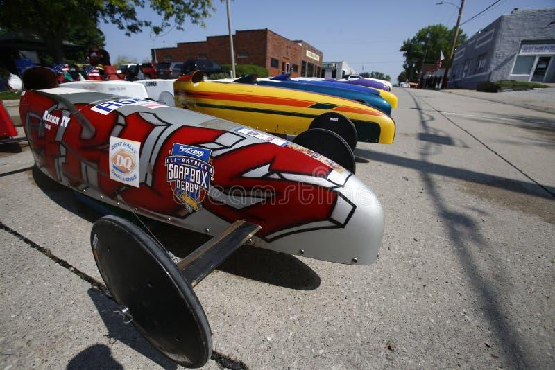 Mydlani Pudełkowaci derby samochody obrazy royalty free