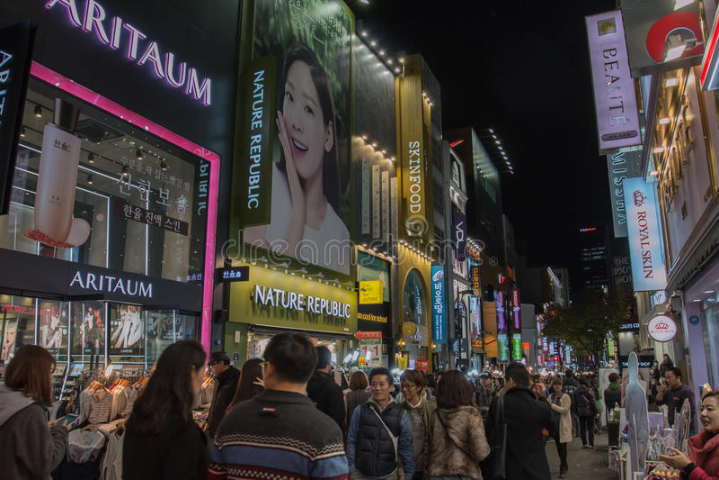 Myeongdong imagen de archivo