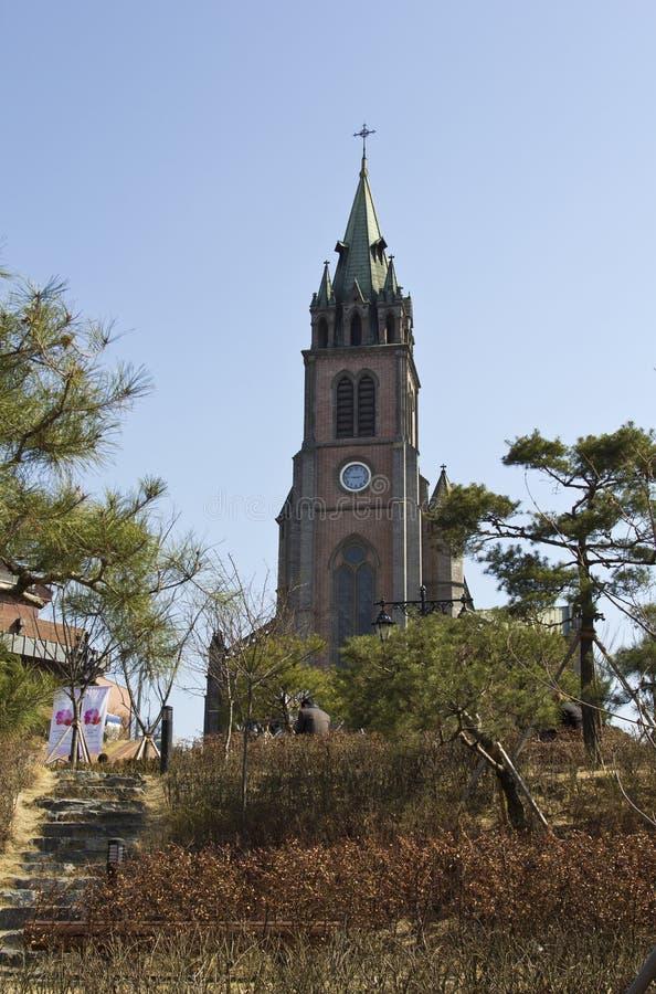 Myeongdong domkyrka arkivbilder