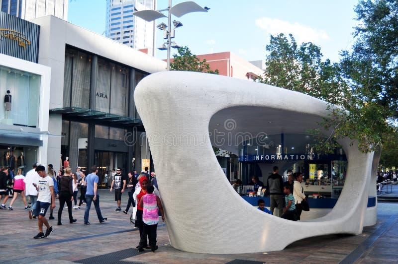 Myer City Store på Perth ` s Forrest Chase i Perth, Australien royaltyfria foton