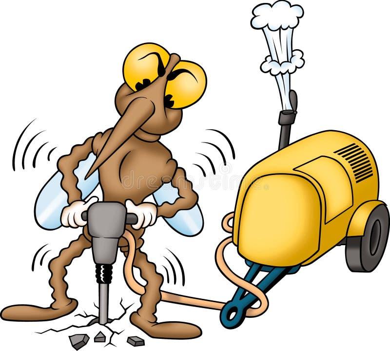 myggaarbetare stock illustrationer