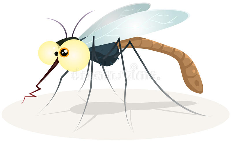 Myggatecken vektor illustrationer