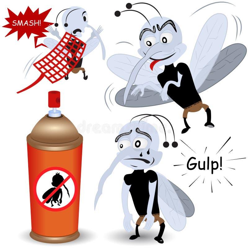Myggauppsättning stock illustrationer