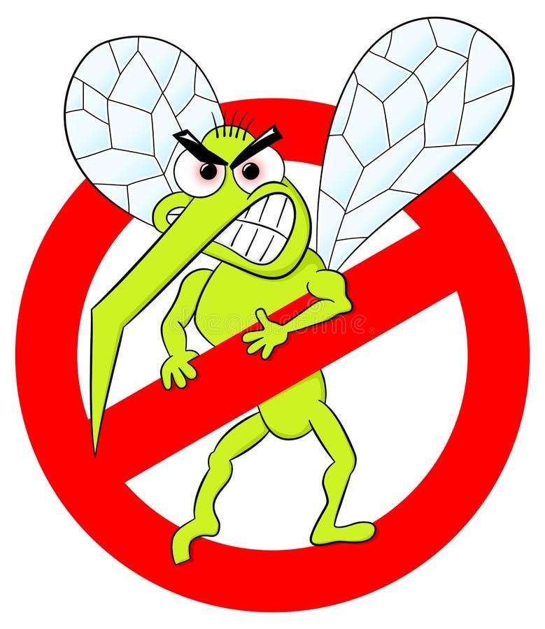 Myggavarningstecken vektor illustrationer