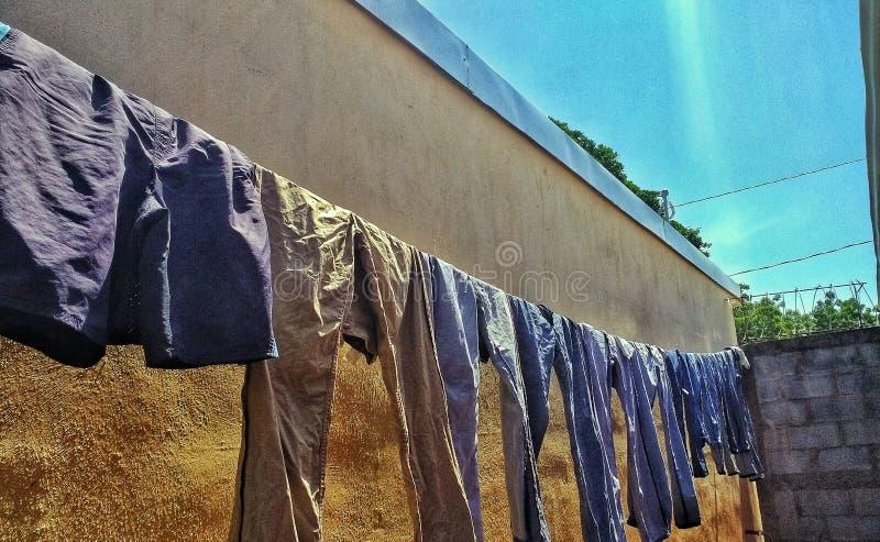Myjący odziewa fotografia stock