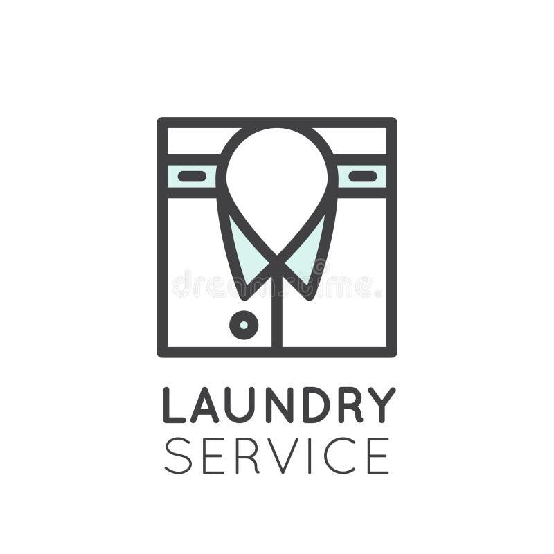 Myjący Up i Czyścić Odziewa, Suchy Cleaning, osuszka, prasowanie i gospodarstwo domowe opieka, Odosobniona sieci kolekcja ilustracji