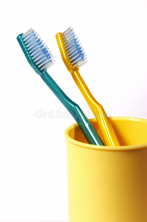 myje zęby obrazy stock