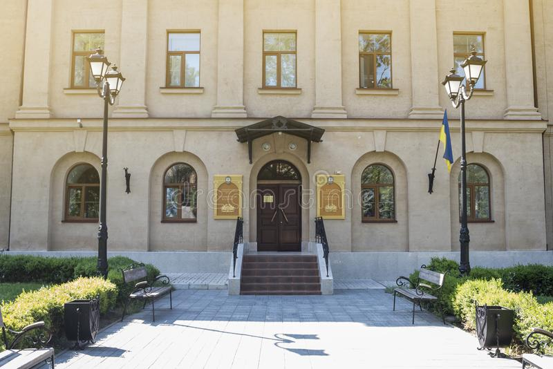 Mykolayiv,乌克兰- 2017年6月29日:地方志Mykolayiv地方博物馆- Staroflotski营房 库存照片