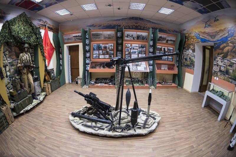 Mykolayiv, Ucrânia - 29 de junho de 2017: Museu da guerra em Afeganistão no museu regional de Mykolayiv da história local fotos de stock