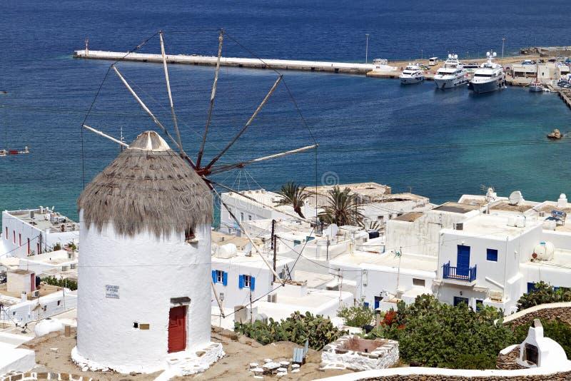 Mykonos海岛在希腊 库存照片