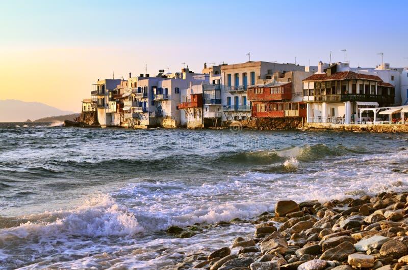 Mykonos λίγη Βενετία στοκ εικόνες