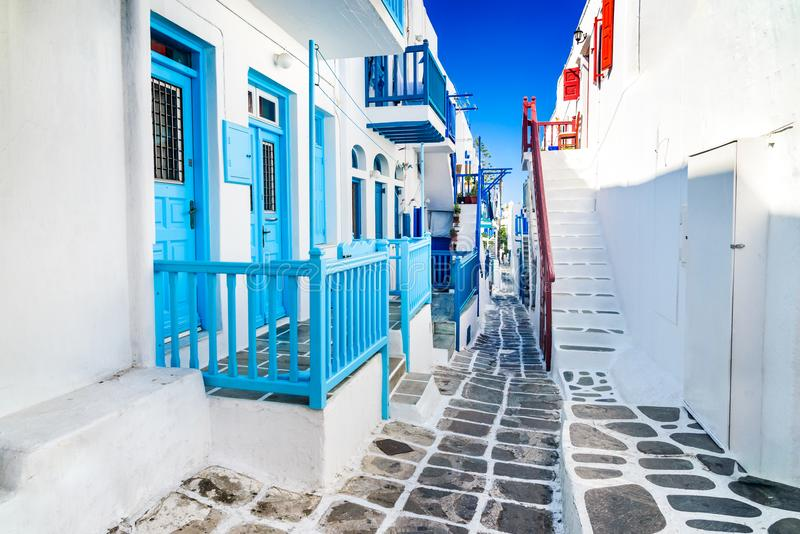 Mykonos, греческие острова, Греция стоковые фото