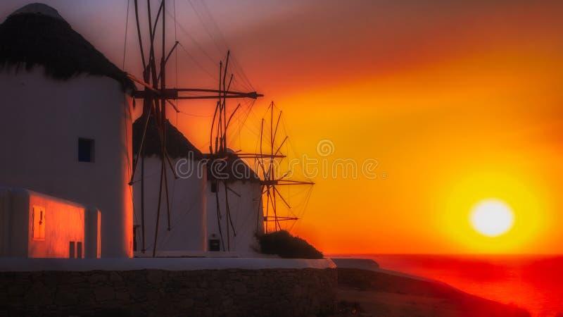 Mykonos-Bucht lizenzfreie stockfotografie