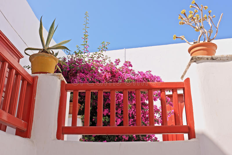 Download Mykonos Front Porch stock image. Image of verandah, plant - 10362351