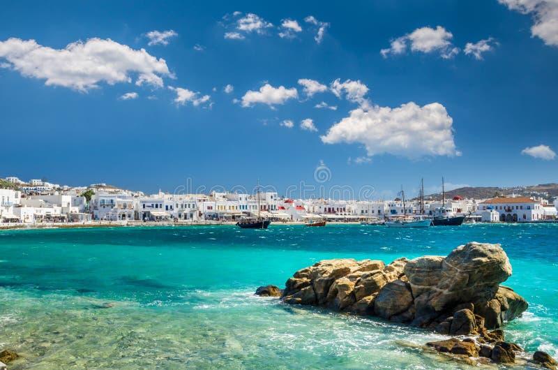 MYKONOS, GRÈCE 4 JUILLET 2017 : image libre de droits